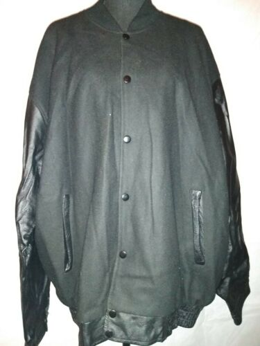Black Leather Varsity Jacket