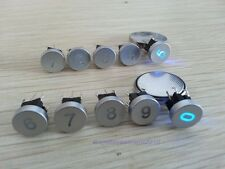 5pcs Blue Led Dia 10mm Cap Number 4  Momentary 12V Tact Push Button Switch