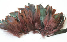 """20g of 4-6"""" half bronze brown schlappen coque rooster feathers, about 200pcs"""