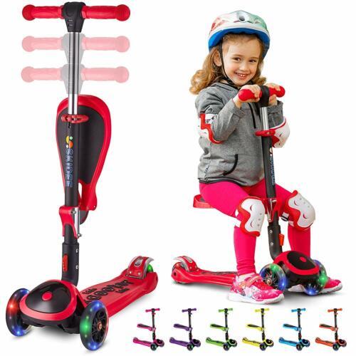 Patineta Scooter Para Niños Con Asiento Plegable Seat Scooter For Boys Girls