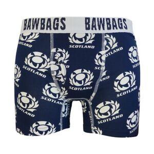 Unterwäsche Energisch Bawbags Scotland Rugby Badge Boxer Shorts Herrenmode