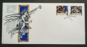 1996-New-Zealand-Christmas-Celebration-2v-Self-Adhesive-Stamps-FDC
