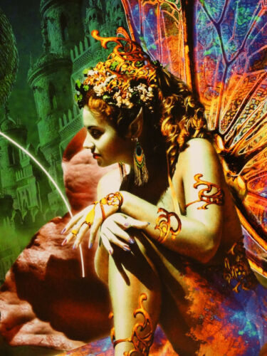 Dragon /& Fairy Fantasy Mythical Magic Spell Dragon/'s Dream Picture Poster 24X36