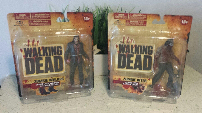The Walking Dead figures série 1-McFarlane Toys Zombies Walker & Mordeuse En parfait état, dans sa boîte