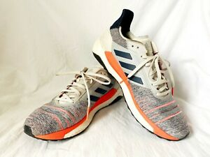 Adidas-Solar-Glide-Mens-Gray-Orange-D97080-Casual-Running-Shoes-Size-US-11-5