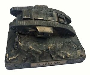 World-War-One-Mark-IV-Male-Tank-1-72-Cold-Cast-Bronze-Military-Statue