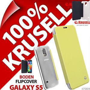 NUOVO-Krusell-Boden-Custodia-Flip-per-Samsung-Galaxy-S5-Cover-Folio-similpelle