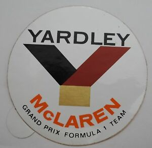 Motorsport-Aufkleber F1 Yardley Mclaren Grand Prix Formula 1 Team 1972 F1
