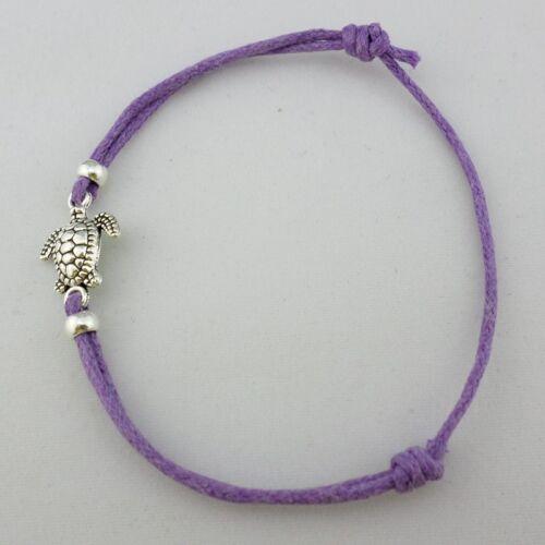 5pcs Sea Turtles Tortoise Charm Bracelets Lucky Adjustable Animal For Women Men