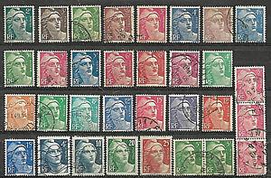L075-Lot-32-Timbres-Marianne-de-GANDON-1945-1947-1948-1949-1951-1954