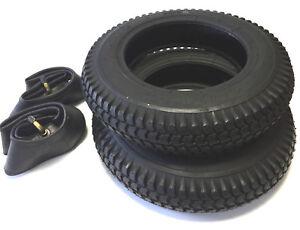 2x Reifen + 2x Schlauch schwarz 3.00-8 E-Mobil Elektro Mobil Scooter Rollstuhl