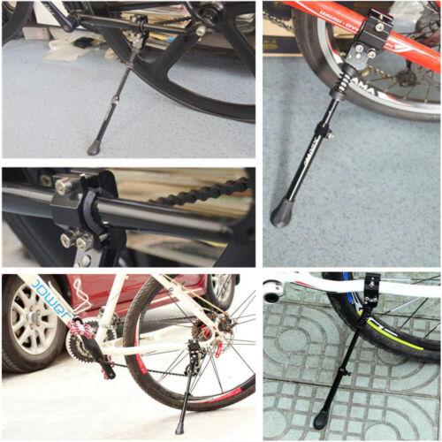 1pc Adjustable Black Aluminum Alloy Bike Sides Reak Bike Stand Heavy Duty#