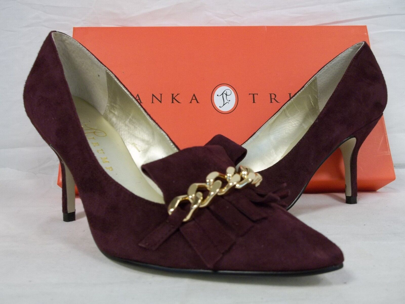 Ivanka Trump Größe 6.5 M Dinah Dark ROT Suede Heels NEU Damenschuhe Schuhes