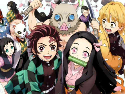 Anime Demon Slayer Kimetsu no Yaiba Characters Poster Group HG Glossy Laminated