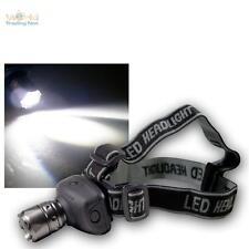 Linterna con enfocable 1W CREE de Alta Potencia LED Lámpara cabeza 4