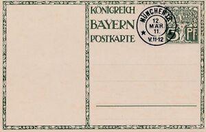Postkarte-Koenigreich-Bayern-aus-dem-Jahr-1911-unbeschrieben-mit-Stempel-Muenchen