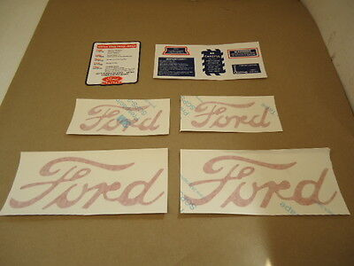 NEW Complete Decal Set For Proofmeter 8n Tractor Ford Decals Vinyl 8N5052DP