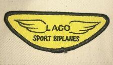 """LACO Sport Biplanes Pilot Patch - 4"""" x 1 1/2"""""""