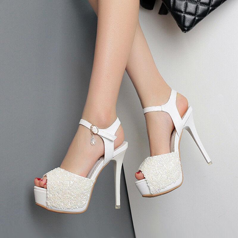 Sandali eleganti sabot stiletto 13 cm tacco bianco simil  simil bianco pelle eleganti 9892 486003