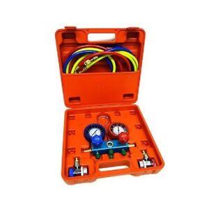 NEW-Professional-AC-Air-Conditioner-Coolant-Manifold-Gauge-Kit-Set-R134a-HVAC