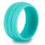 Grooved Silicone Rubber Wedding Engagement Ring Band Outdoor Sport Men Woman US