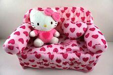Girls Kids Women Heart Soft Plush Tissue Case Cover For Hello Kitty + Pendant