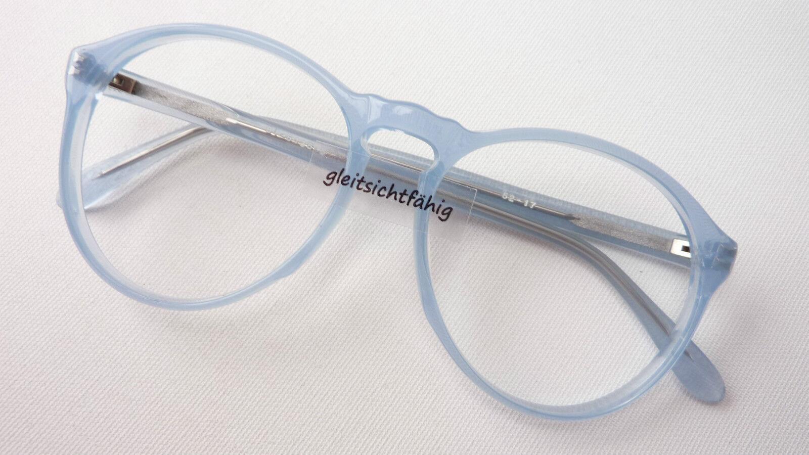 Brillen pastellblaue Pantobrille Fassung Fassung Fassung Gestell Damen Herren frame Grösse S  | Stabile Qualität  | Modern  | Fein Verarbeitet  efc720