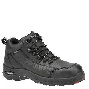 4e79ad03204 Reebok Rb4555 Tiahawk Mens Black Waterproof Comp Toe Work BOOTS Size 11 Wide