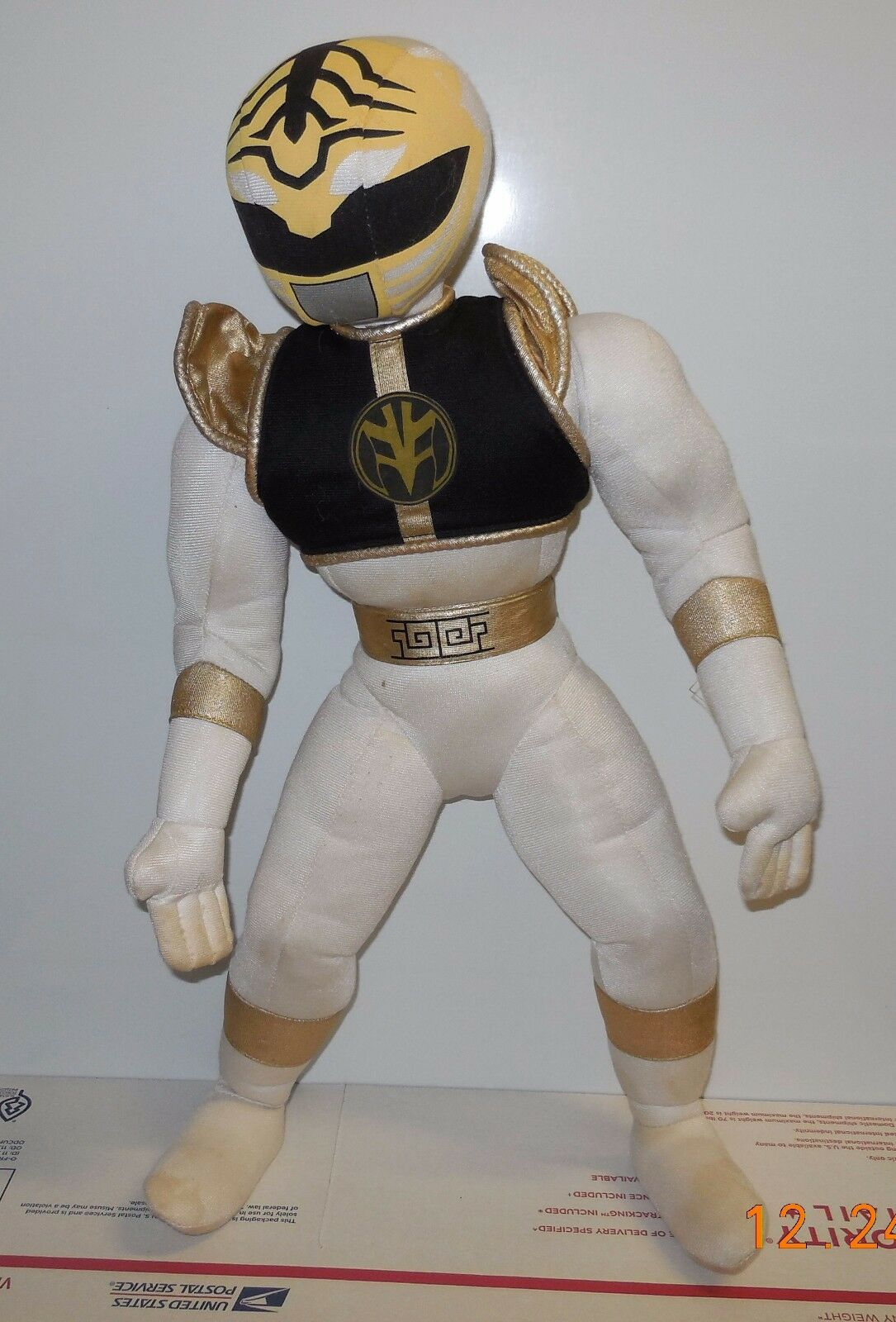 Vintage 1994 Hasbro kid dimension Weiß ranger 16  plush Toy Power Rangers
