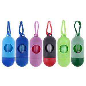 Pet-Dog-Puppy-Garbage-Clean-up-Bags-Carrier-Holder-Dispenser-Poop-Bags-Set