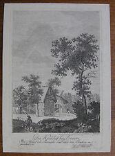 GENELLI ´KIRCHHOF, BERNAU, BERLIN, BRANDENBURG´ KUPFERSTICH, SEHR SELTEN, ~1790