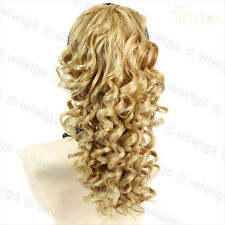 Wiwigs Lovely Blonde Mix Irish Dance Curly Ponytail Claw Clip Hairpiece