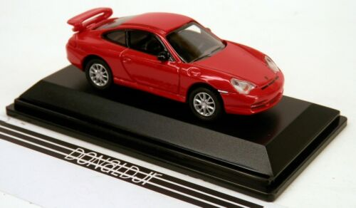 Real-X Porsche 911 GT3 996 Red 1//72 Scale Diecast w//Acrylic Case