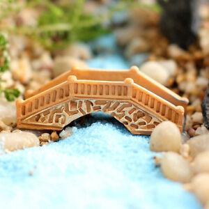 1X-Mini-Stein-Bruecke-Figur-Fee-Handwerk-Ornament-Hausgarten-Micro-LandschaftRSFD