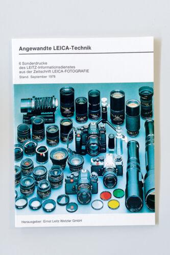 Folleto promocional Leica aplicada Leica-tecnología 1978 original d