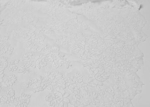 Spitzenstoff Tüllspitze Kordel Spitze Weiß Schleier Brautkleid Deko Stoff L1705
