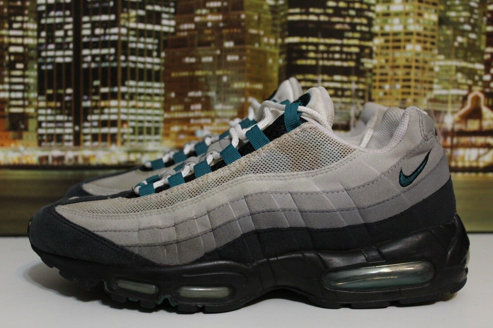 Nike Air Max 95 Fresh Water Cool Grey Black 2009 Running Sneakers Size 9