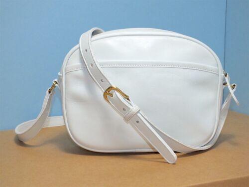 Vintage Coach Camera Crossbody Bag White #0258-029