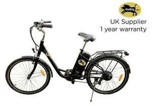 Roadhog Electric Bike City Commuter E Bike 7 Speed 250w Removable Battery Uk Ebay