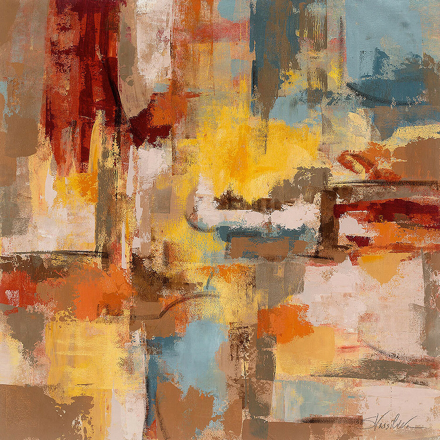 Abstract Landscape XI  - CANVAS or PRINT WALL ART