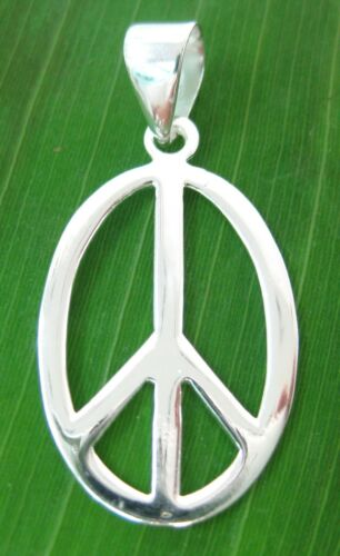 925 STERLING SILVER PLAIN PEACE SIGN STUDS EARRINGS