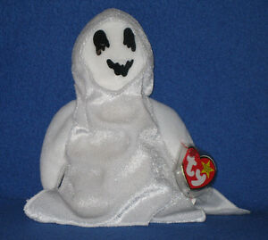 SHEETS Retired Ty Ghost Halloween Beanie Baby Babies Mint with Tag