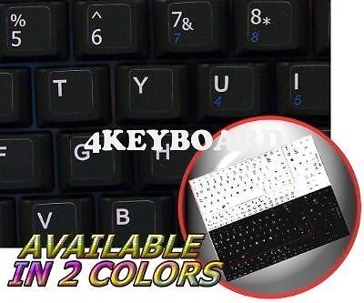 ENGLISH US NETBOOK KEYBOARD STICKER BLACK