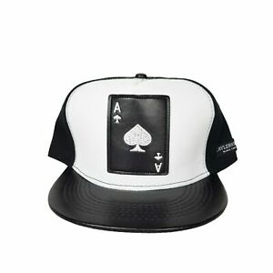 Men-Fashion-Hip-Hop-Hat-Ace-Spade-Adjustable-Snapback-Black-amp-White-Baseball-Cap