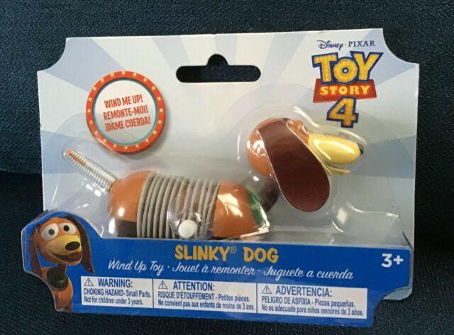 DISNEY PIXAR TOY STORY 4 SLINKY DOG TOY WIND UP DOG NIB FREE SHIPPING!