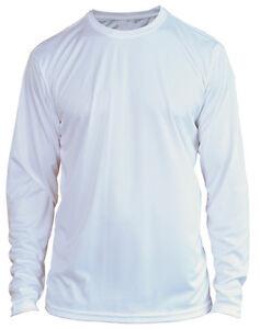 Microfiber Long Sleeve Fishing Shirt Upf 50 White N G