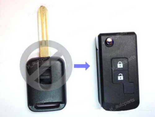 2 Buttons Remodel Remote Flip Folding Key Shell Case For Nissan Pathfinder Micra