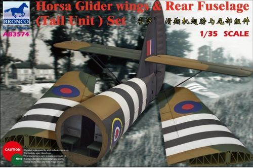 Bronco 1 35 Airspeed A.S.51 Horsa Glider Mk.I Wings & Rear Fuselage (Tail Unit)