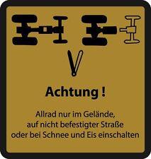 * Allrad DEUTZ Aufkleber Logo Emblem Sticker Label 7206 *