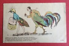 CPA. Xavier SAGER. 1910. Chantecler. Coq. Pintade. Jeune Femme. Humour. Coquin.